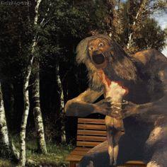 Polski artysta przerabia słynne obrazy na zaskakujące GIF-y - Joe Monster