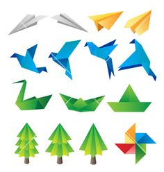 Origami on VectorStock