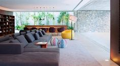 Sushi poufs by Moroso at the Ipes Residence in Sao Paulo Brazil