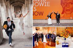 Kelsey & Drew - orange and blue small wedding Chicago