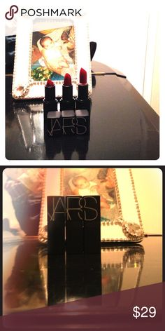 NARS red lipstick. Set of 3. New. Red lipstick.! Check my other listings!  One hour sale! NARS Makeup Lipstick