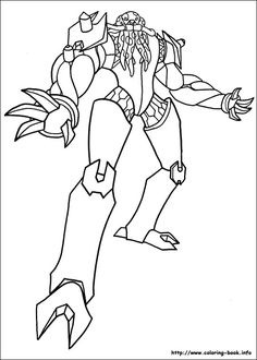 Ben 10 Coloring Pages For Kids Printable Online 9