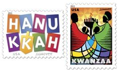 2011 Hanukkah and Kwanzaa Holiday Postage Stamps Released - USA