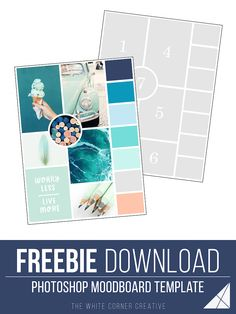 A moodboard is a great way to gather inspiration for your brand design and build a colour scheme. Here is a free moodboard template to help you get started!