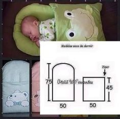 Quilt Baby, Baby Sewing Projects, Sewing For Kids, Sewing Tips, Baby Knitting, Crochet Baby, Diy Bebe, Baby Pillows, Baby Kind