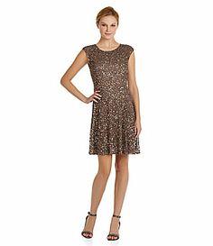 Pisarro Nights Bead and Sequin Dress #Dillards