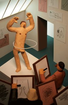 gif Illustration pênis animation art school artists on tumblr stop motion claymation life model hudson christie