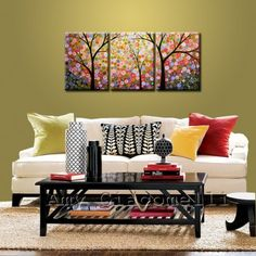 Extra Large Wall Art Painting Triptych Modern Contemporary
