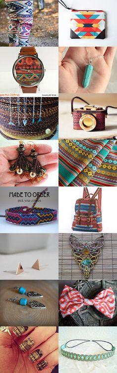 let's go aztec by Anna Grunduls on Etsy--Pinned with TreasuryPin.com #Etsyvintage #Estyhandmade #giftideas