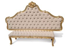 Bed Furniture, Furniture Design, Simple Bedroom Design, Antique French Furniture, Luxury Bedding, French Antiques, Bedding Sets, Love Seat, New Homes