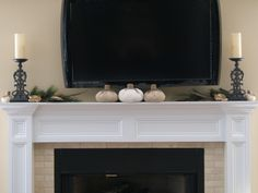 Fireplace Mantels with TV Above | ... What do you do to spiff up a big tv? A wreath hanger won't fit on it