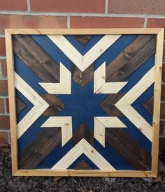 Items similar to Geometric Wood Wall Art-Rustic on Etsy Reclaimed Wood Wall Art, Wooden Wall Art, Diy Wall Art, Wood Art, Barn Quilt Designs, Barn Quilt Patterns, Wood Patterns, Diy Wood Projects, Wood Crafts
