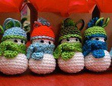 Snowman ornament crochet pattern | Free Amigurumi Patterns