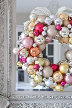 Hey ya'll! So, each year around November, the emails start pouring in with all of the ornament wreaths you guys have made. And seeing all of your creations always inspires me to make another one. So