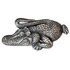 Crocodile / Alligator Sterling silver 925 buckle fit 1 inch / 25mm be... Lot 827