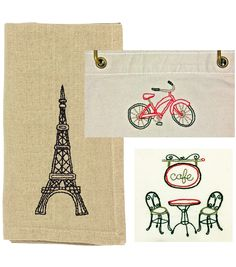 Time to head to Paris :) #embroidery Continental Embroidery Transfer by Claudine Hellmuth.