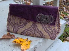 FAB FALL find Classy Plum Royal Print Clutch by ProdigalPurses