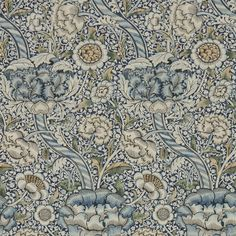 Wandle by Morris - Blue / Stone : Wallpaper Direct Stone Wallpaper, Print Wallpaper, Fabric Wallpaper, Hall Wallpaper, Amazing Wallpaper, Wallpaper Online, William Morris Wallpaper, Morris Wallpapers, William Morris Tapet