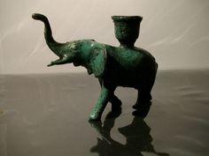 Bronze Figur Elefant Glücksbringer