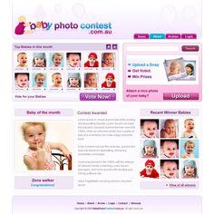 Baby photo contest website