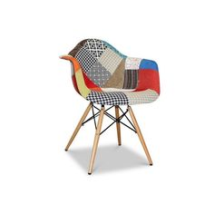 Eames Style Patchwork Fabric Armchair – Wazo Furniture