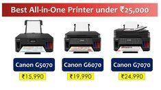 Wireless Ink-Tank Printer under 20000 Rupees {हिंदी में}   #Canon G7070 ... Ink Tank Printer, Laser Printer, Fast Print, Multifunction Printer, Best Printers, Photo Printer, Latest Gadgets, Canon, Bottle Design