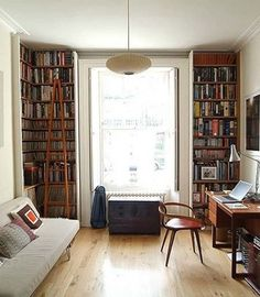 Inspiration: Floor-to-Ceiling Bookshelves