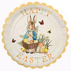Beatrix Potter Peter Rabbit Easter Plates, Set of 12