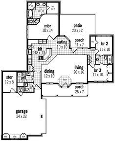 Floor 1-Architectural Designs W55131BR