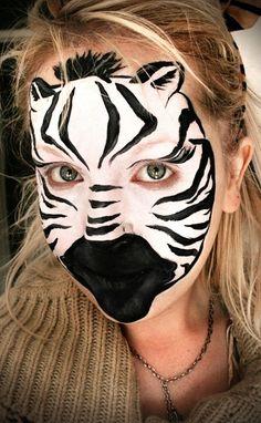 Zebra Face Paint by katemonroeunbanded, via Flickr