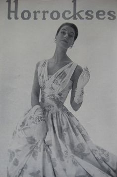 Horrockses in Vogue 1950s, via Flickr.