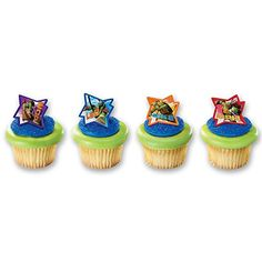 Find all the teenage mutant ninja turtle party supplies and ideas for an awesome birthday party. If they're a fan of Raphael, Michealangelo, Donatello, Leonardo, a TMNT party would be the best way to celebrate their birthday. Ninja Turtle Cupcakes, Ninja Turtle Birthday, Boy Birthday, Birthday Ideas, Happy Birthday, Birthday Supplies, Birthday Stuff, Birthday Parties, Ninja Turtle Party Supplies
