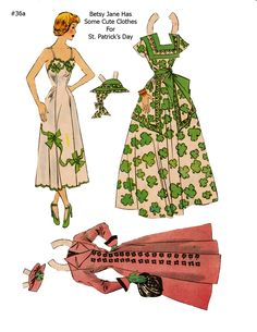BETSY JANE ~~~ Lucy Eleanor Leary, Boston Sunday Post, Newspaper Paper Dolls ~ 1 of 2