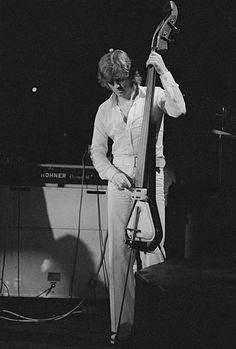 John Paul Jones of Led Zeppelin in Earls Court. 1975.