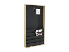 Ridå magazine shelf | magnetic back covered in pressed felt design by Joel Karlsson Krook&Tjäder Design