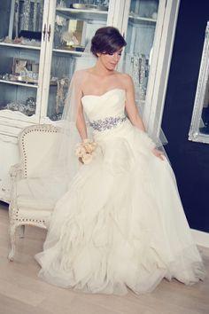 Such a beautiful wedding dress!