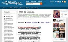 MisTatuajes es una página con una gran galería de imágenes de tatuajes para que sirvan de inspiración. Las fotos se organizan en más de 50 categorías.