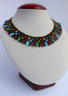 Beaded necklace collar Ethnic handmade Jewelry Boho necklace colored womens necklace gift bright necklace black necklace for women Jewelry – Most Beautiful Necklaces Black Necklace, Boho Necklace, Collar Necklace, Boho Jewelry, Bridal Jewelry, Beaded Jewelry, Jewelry Necklaces, Handmade Jewelry, Women Jewelry