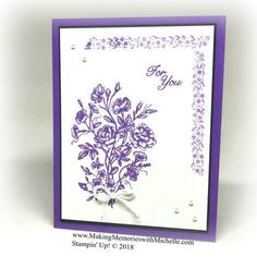 A collection of photos, projects, and card making classes by Stampin Up! Vintage Stamps, Vintage Cards, Purple Cards, Paper Crafts, Diy Crafts, Elements Of Style, Card Sketches, Vintage Floral, Stampin Up Cards