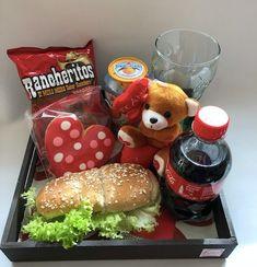 Diy Valentine Gifts For Boyfriend, Breakfast Basket, Weird Gifts, Surprise Box, Food Presentation, Creative Gifts, Gift Baskets, Diy For Kids, Food Art