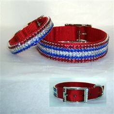 American Pride Patriotic Pet Collar perfect for the 4th of July, Memorial day or anytime. Available in 5/8 - 1 inch wide
