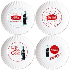 Coca Cola Coke® 1960s Melamine Plates - love these