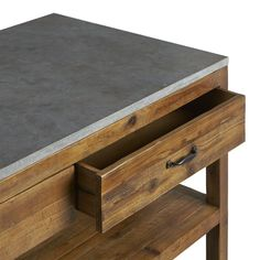 Bluestone Reclaimed Wood Large Kitchen Island | Crate and Barrel