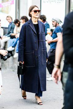Street style at Fashion Week Spring-Summer 2017 Paris
