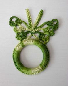 Crochet Napkin Rings Crochet Napkin Holders by ForHomeAndSoul