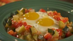 Huevos Rancheros with Zucchini from Brunch at Jinich House Easy Chinese Recipes, Asian Recipes, Mexican Food Recipes, Real Food Recipes, Cooking Recipes, Yummy Food, Tostada Recipes, Veggie Recipes, New Recipes