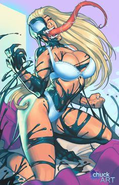 guenom by chuck-piresART.deviantart.com on @DeviantArt - More at https://pinterest.com/supergirlsart/ #blonde #boobs #girls #gwen #spider #spiderman #venom #gwenom #gwen #spidergwen #sexy #underwear #bra #panties #stacy #gwenstacy