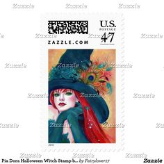 Pia Dora Halloween Witch Stamp by Rene