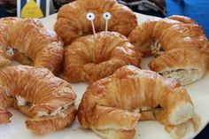 So Festive! »  nautical party  Chicken salad (or crab salad on Croissants made to look like crabs