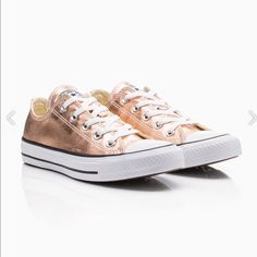 f60f67767082f Shop Women s Converse Gold White size 10 Sneakers at a discounted price at  Poshmark.